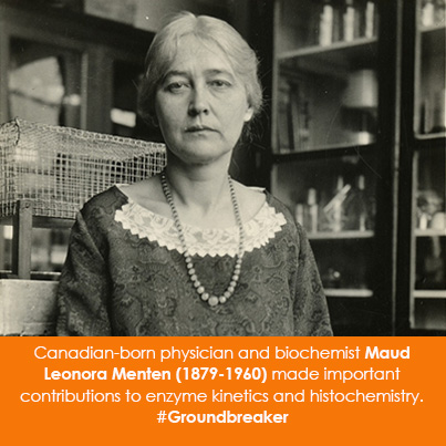 Canadian-born physician and biochemist Maud Leonora Menten (1879-1960) made important contributions