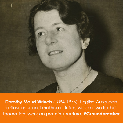 Dorothy Maud Wrinch (1894-1976), philosopher and mathematician, was known for her theoretical work o