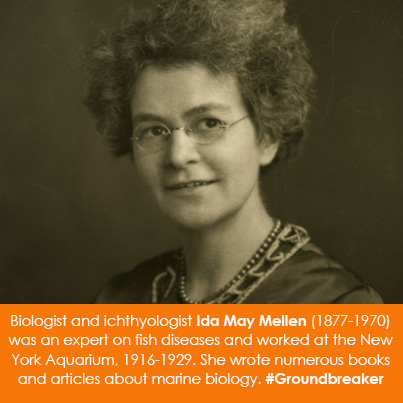 Biologist and ichthyologist Ida May Mellen (1877-1970) was an expert on fish diseases and worked at