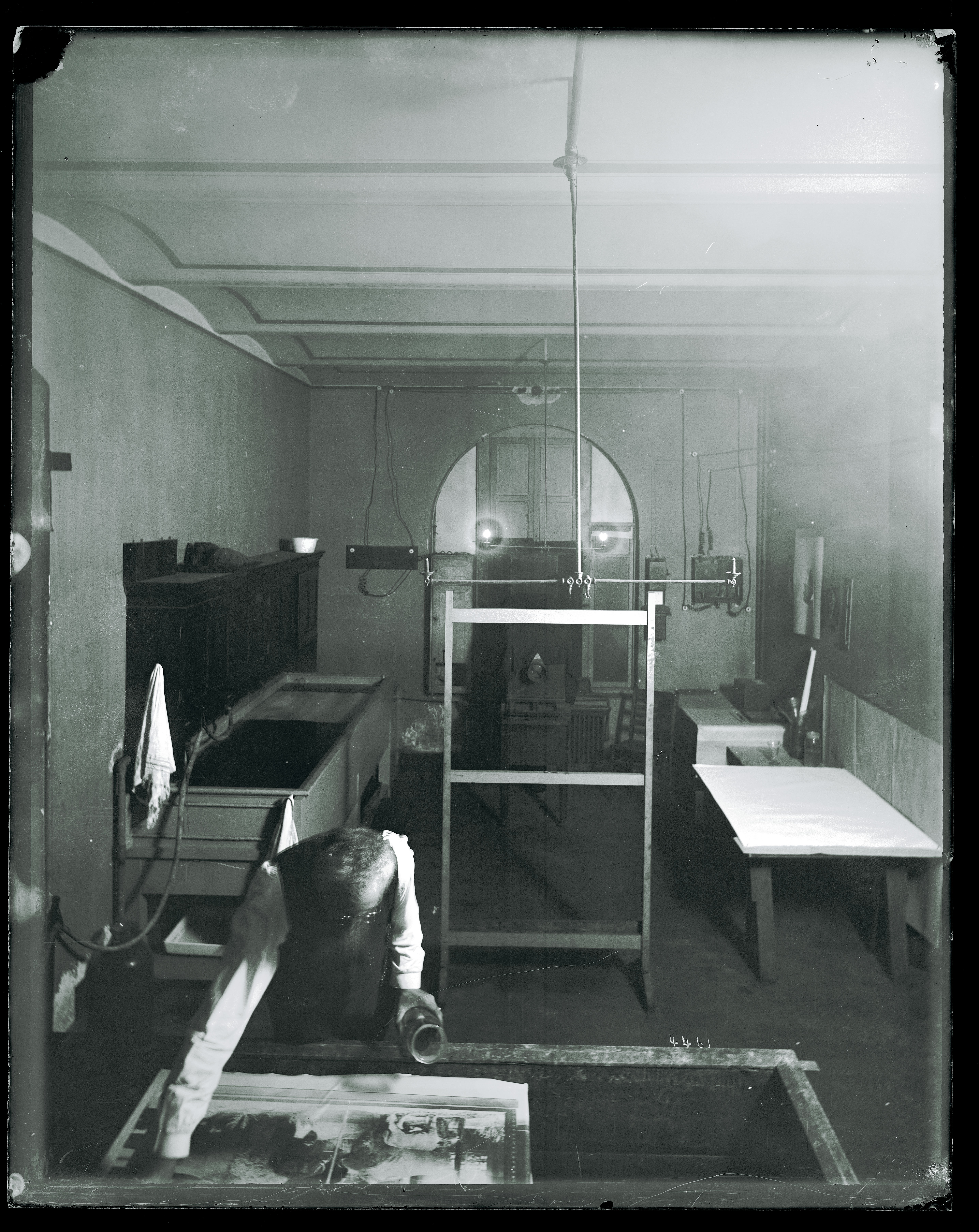 Photographic laboratory of the United States National Museum.