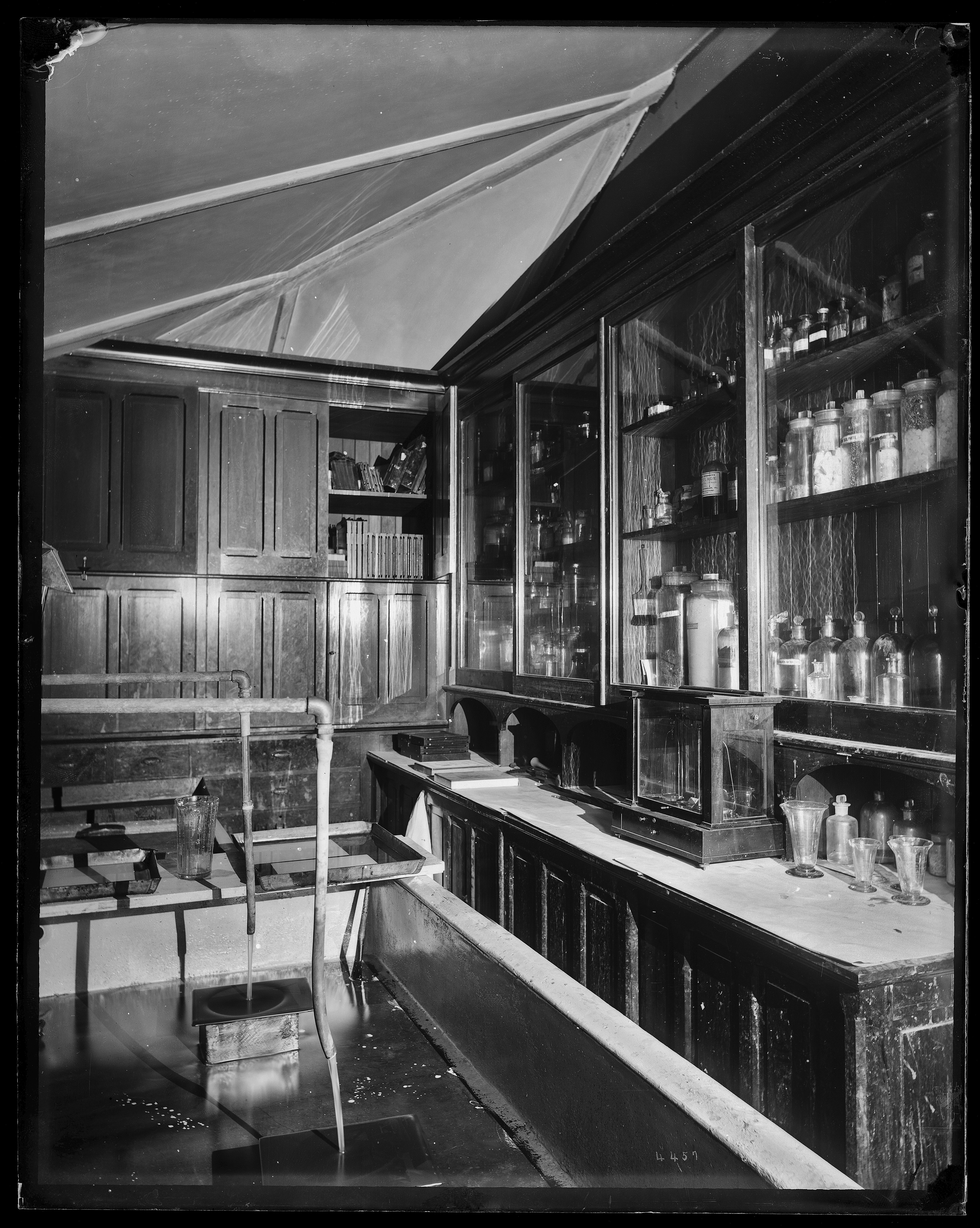 Chemical compounds and equipment in the photographic laboratory of the United States National Museum
