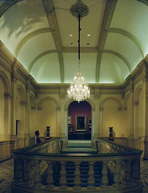 Stairway of the Renwick Gallery, c. 1971.