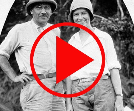 William M. Mann, director of the National Zoological Park, and his wife, Lucile Quarry Mann in 1931