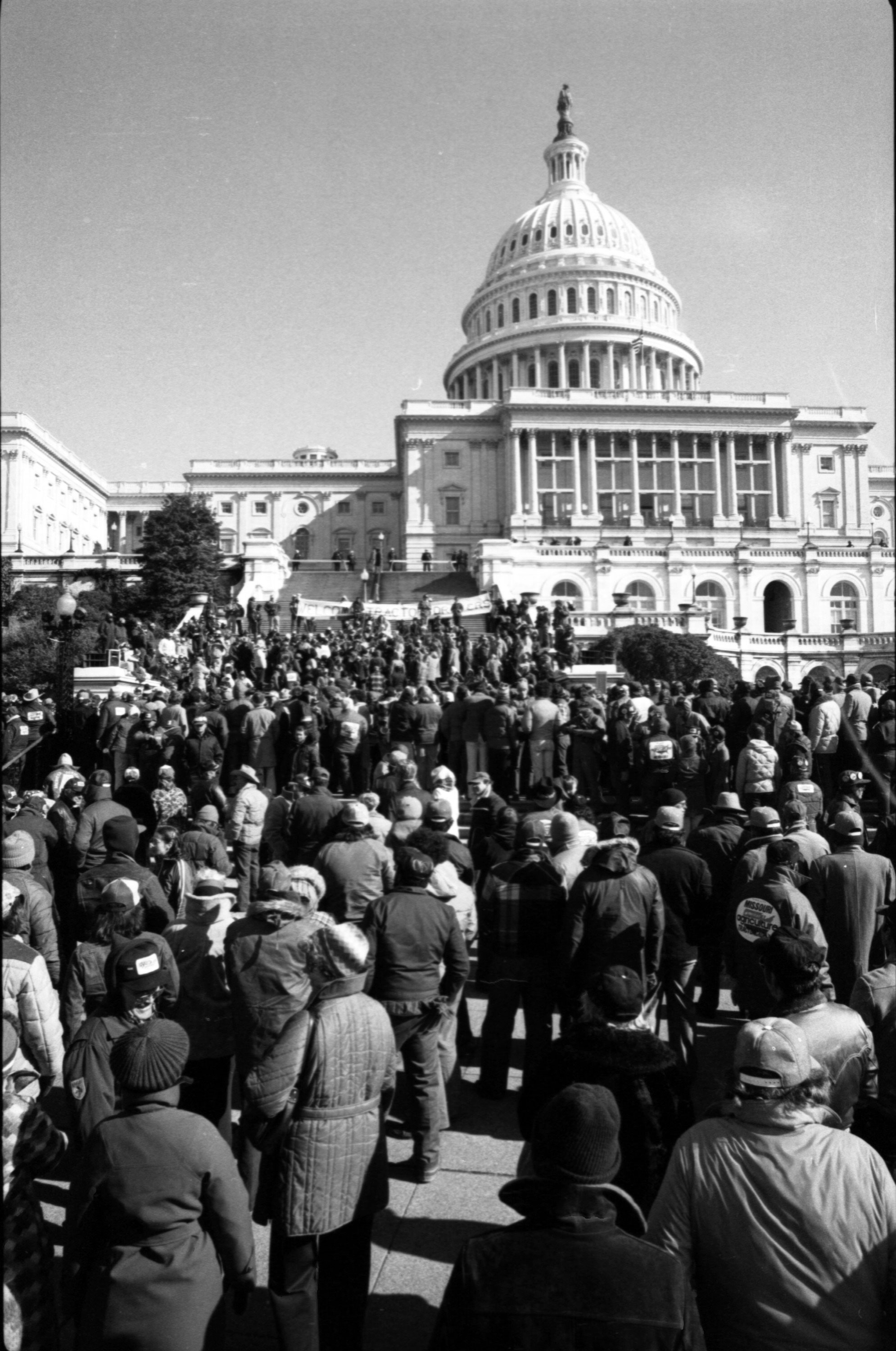 "American Agriculture Movement ""Tractorcade"" on National Mall"