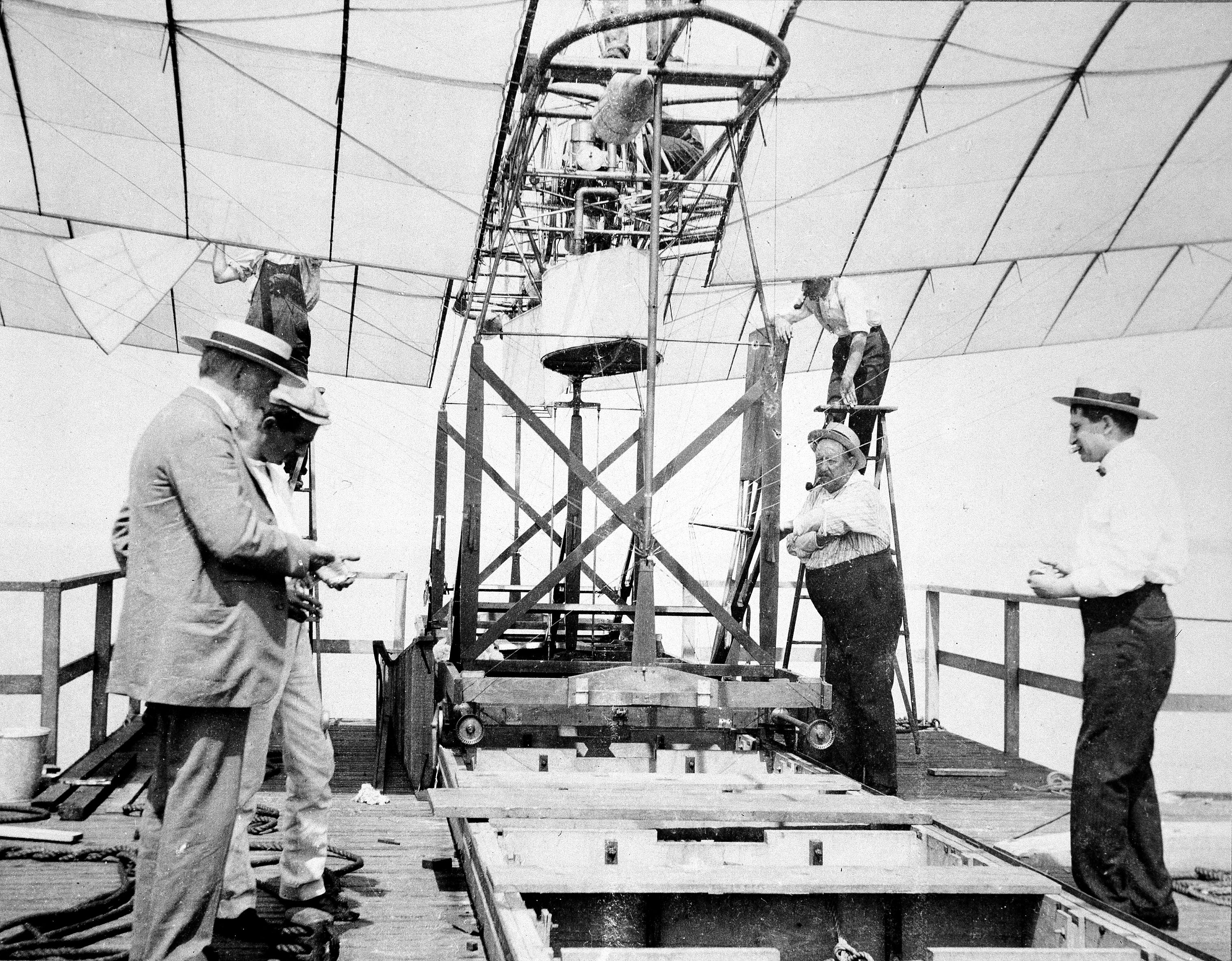 Langley with His Aerodrome.