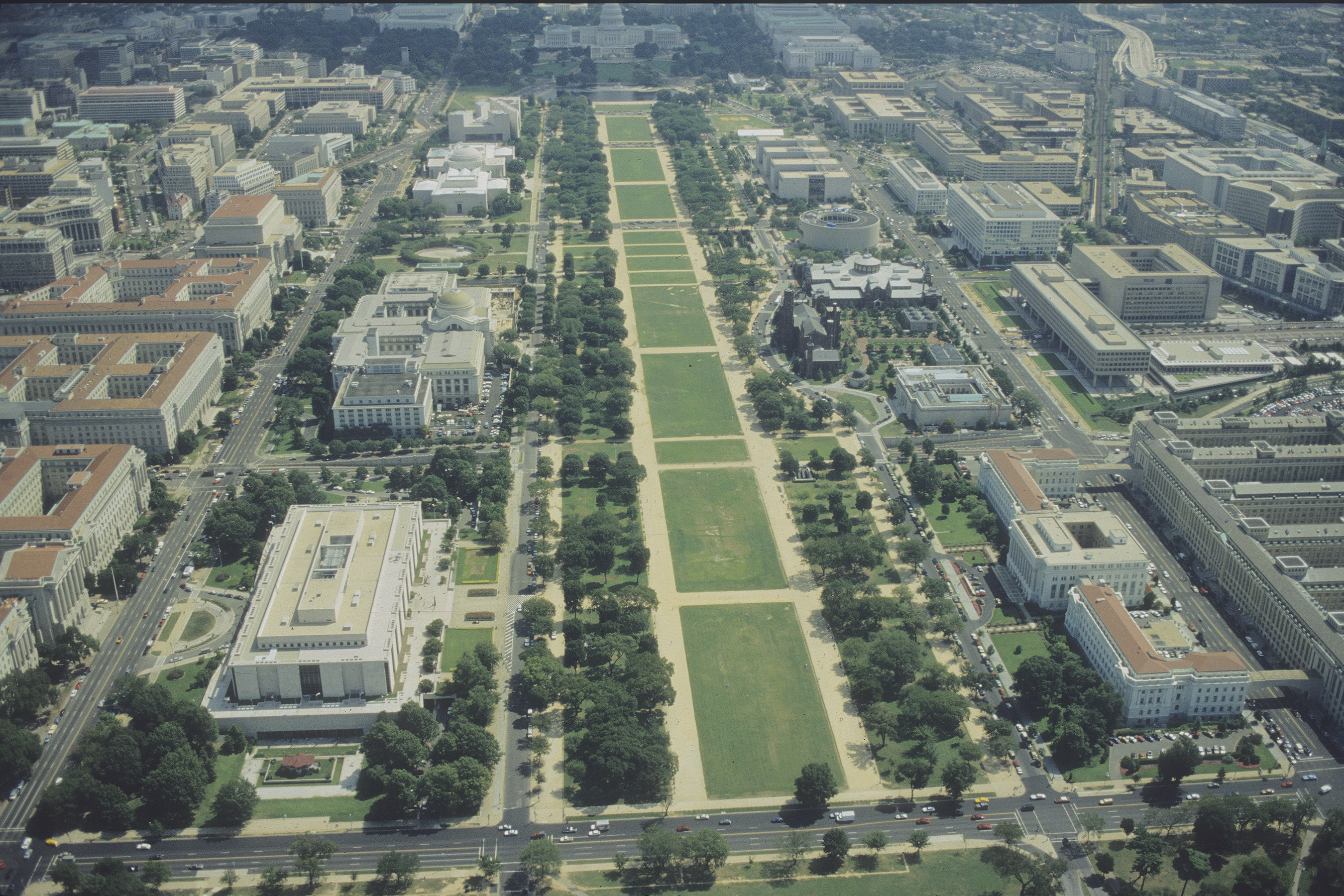 Aerial view, National Mall