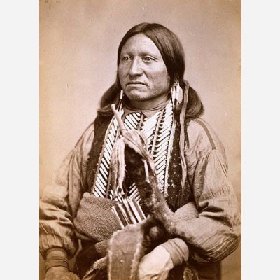 Kicking Bird, by William Stinson Soule, c. 1870, albumen silver print, National Portrait Gallery, NP