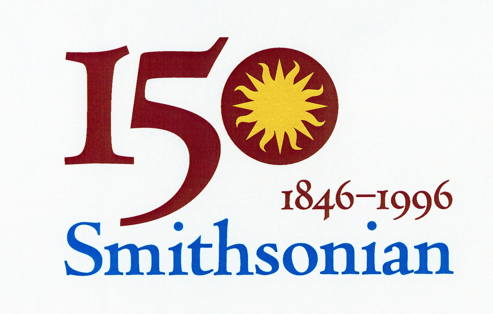 Smithsonian 150th Anniversary Logo, 1996. Image no. SIA2019-006021. Accession 97-069: Office of the