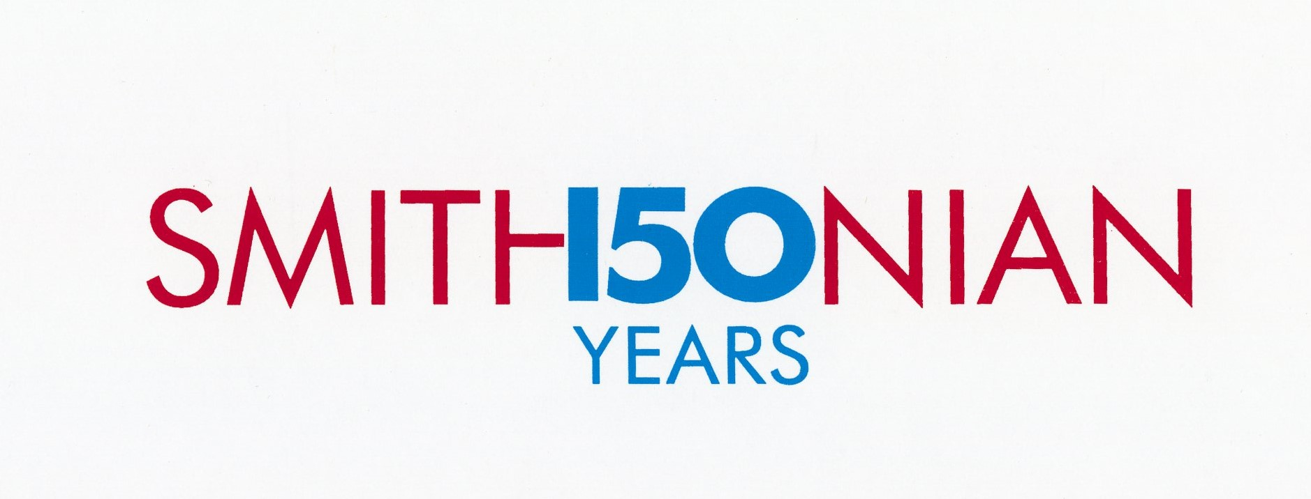 Rejected Smithsonian 150th Anniversary Logo, circa 1996. Image no. SIA2019-006023. Accession 99-099: