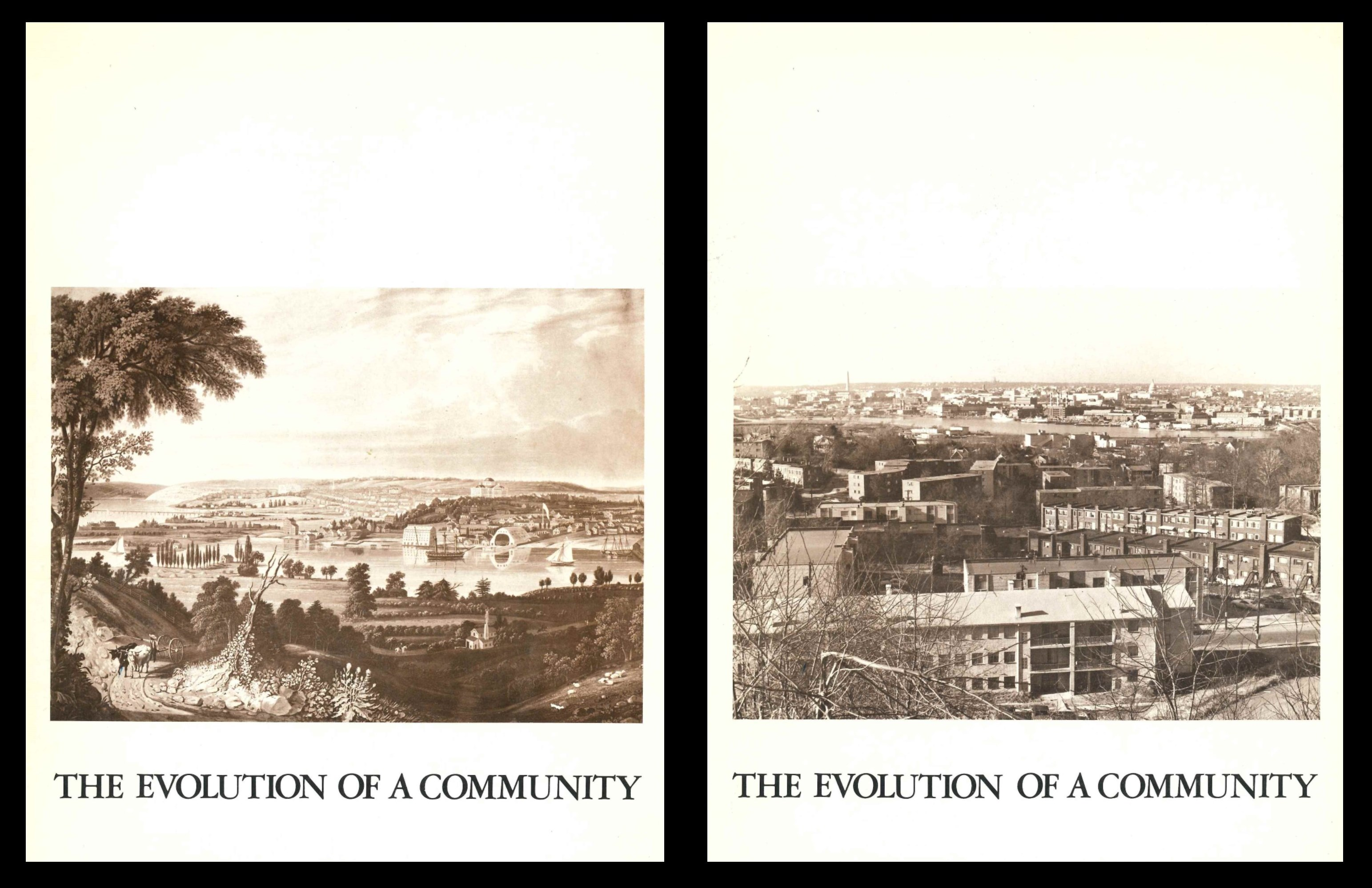 Exhibition brochure - The Evolution of a Community, 1972.