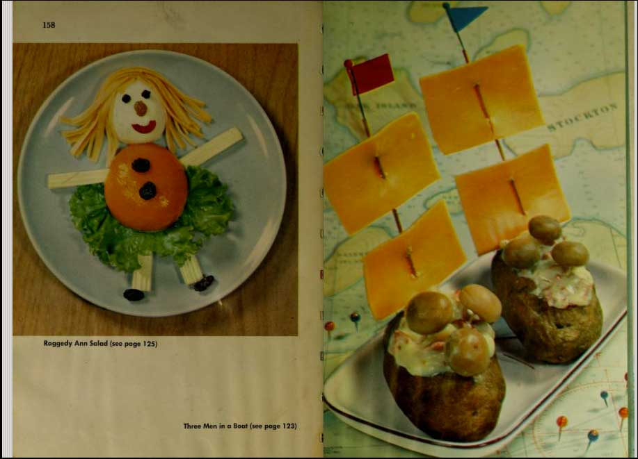 "Page from ""Betty Crocker's Cookbook for boys & girls,"" 1975."