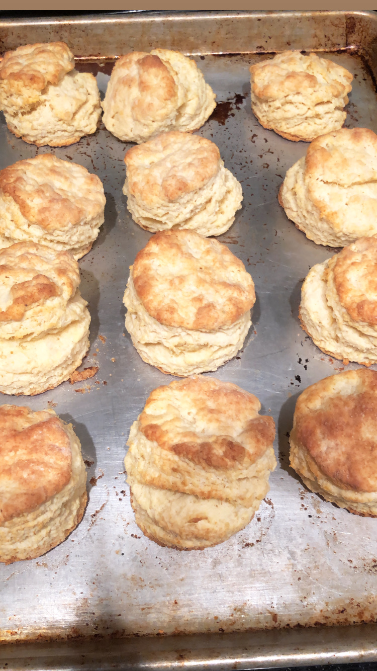 Biscuits on a tray.