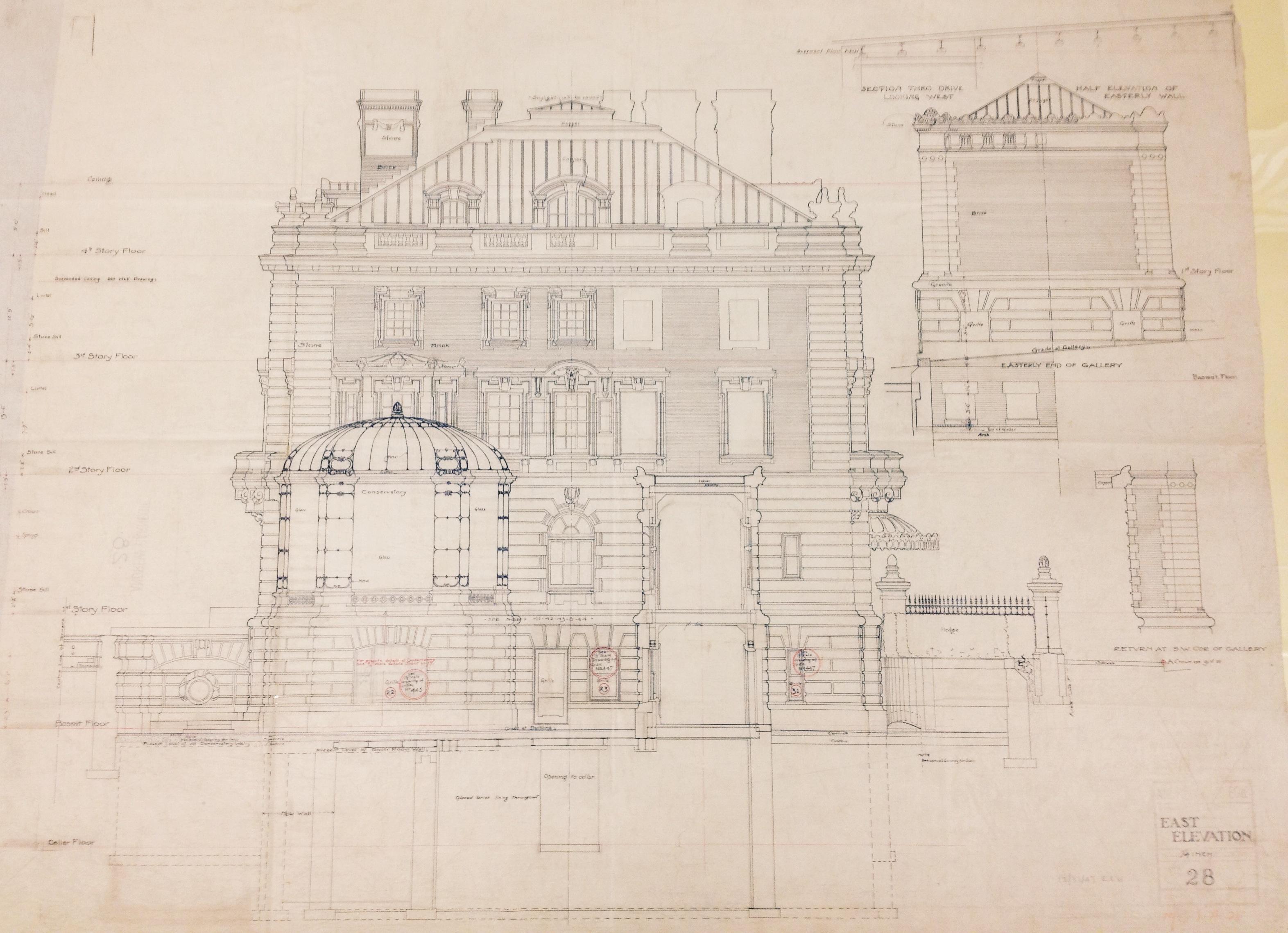 East Elevation, Carnegie Mansion.