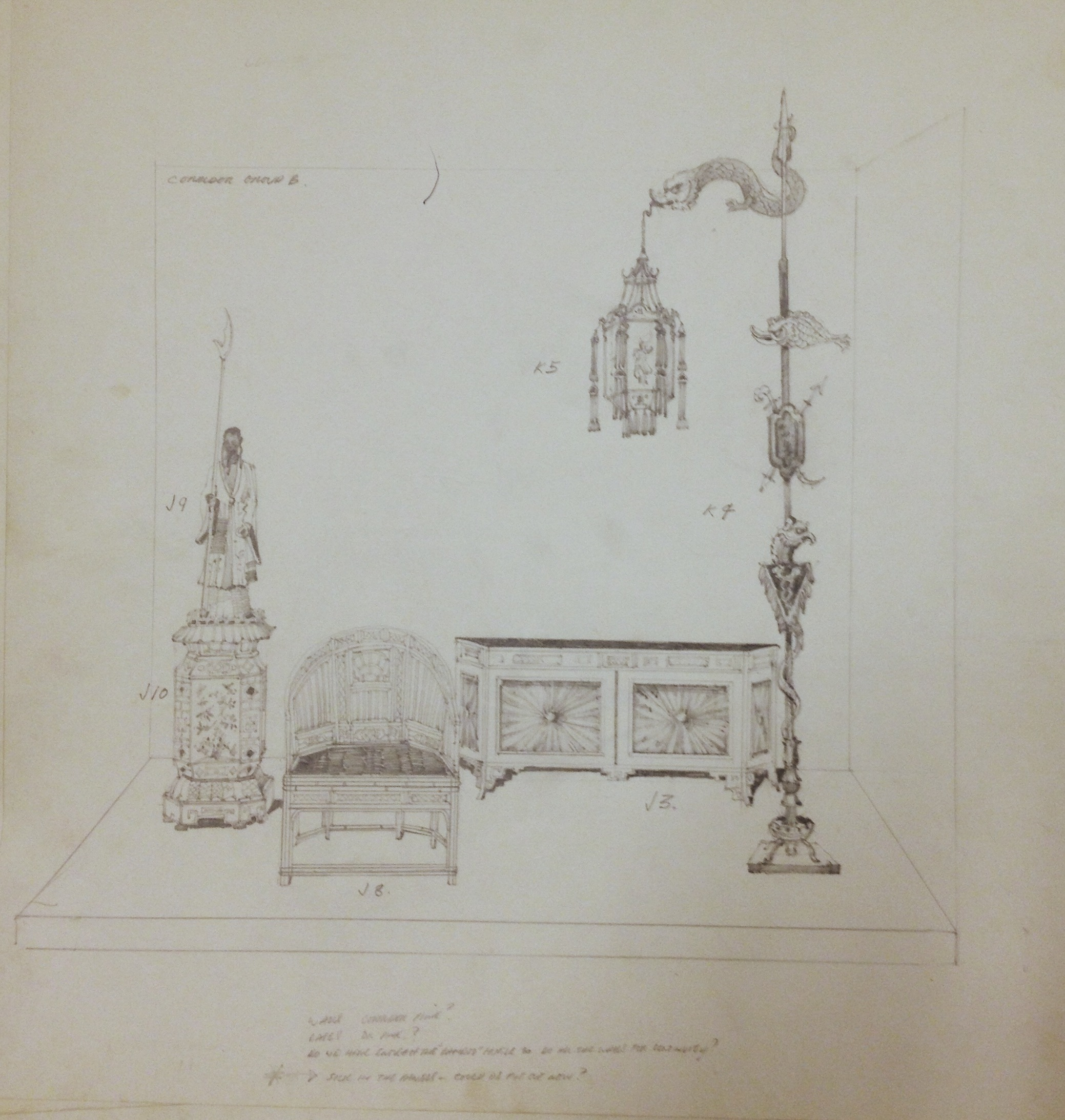 """Depictions of King George IV"" exhibition drawing."