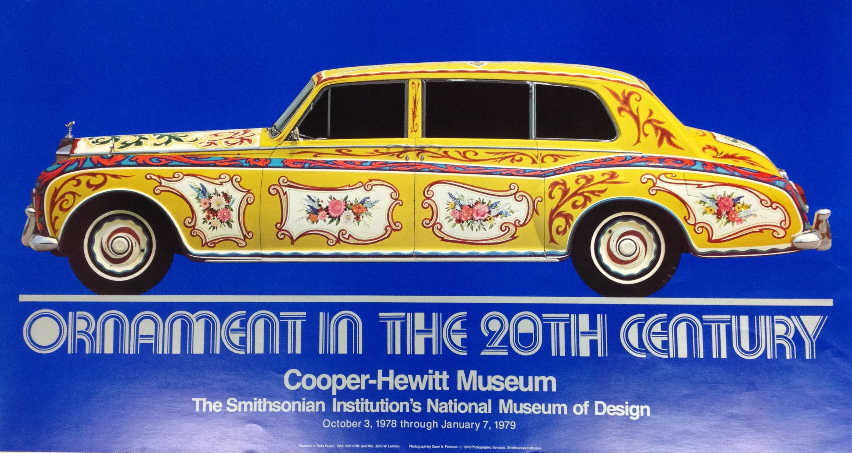 """Ornament in the 20th Century"" exhibition poster."