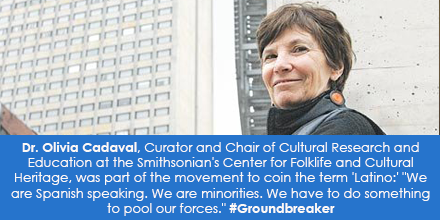 Dr. Olivia Cadaval, Curator and Chair of Cultural Research and Education at the Smithsonian's Center