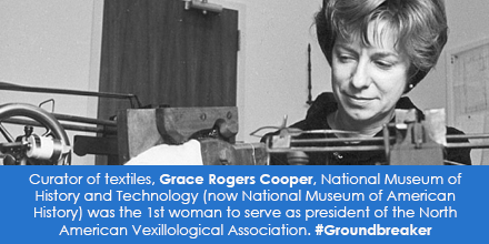 Curator of textiles, Grace Rogers Cooper