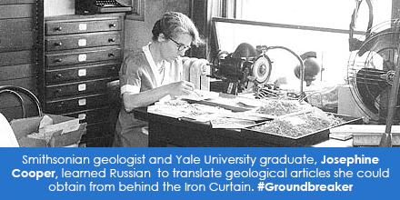 Smithsonian geologist and Yale University graduate, Josephine Cooper