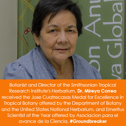 Botanist and Director of the Smithsonian Tropical Research Institute's Herbarium, Dr. Mireya Correa
