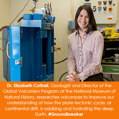 Dr. Elizabeth Cottrell, Geologist and Director of the Global Volcanism Program at the National Museu