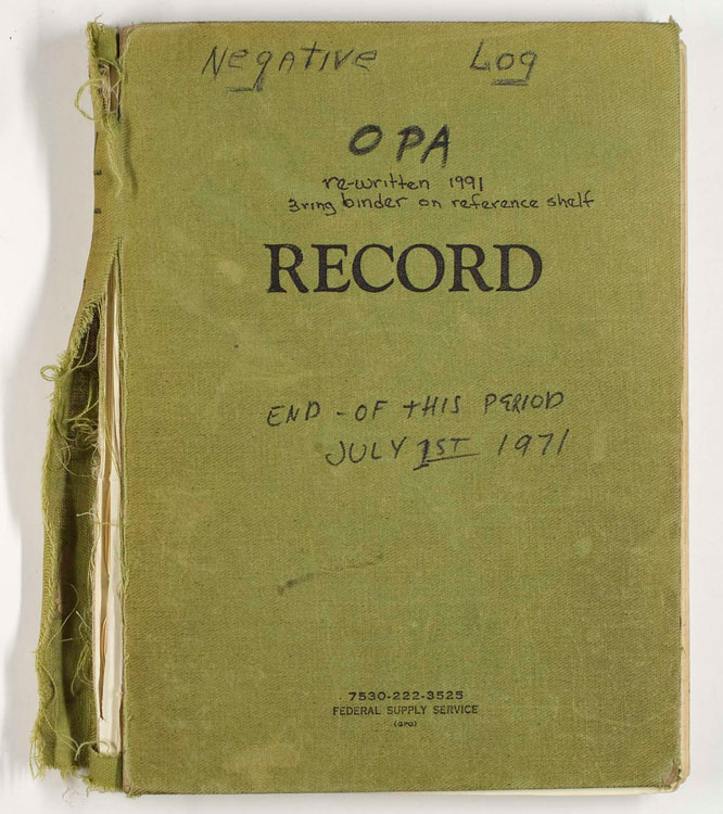 Cover of OPA Negative Log