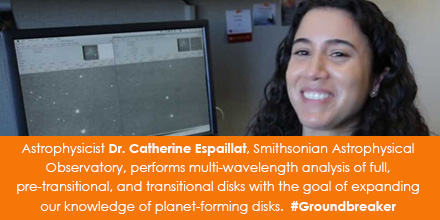 Astrophysicist Dr. Catherine Espaillat, Smithsonian Astrophysical Observatory, performs multi-wavele