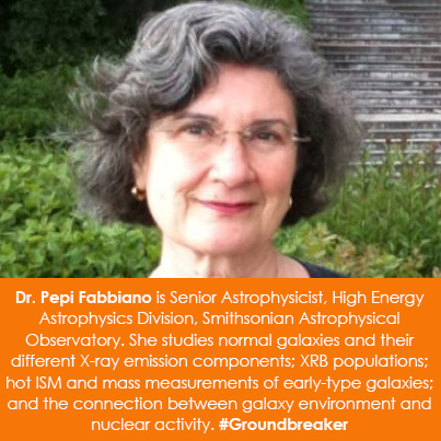 Dr. Pepi Fabbiano is Senior Astrophysicist, High Energy Astrophysics Division, Smithsonian Astrophys