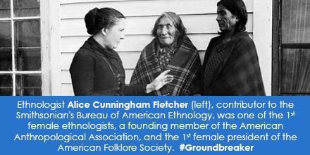 Ethnologist Alice Cunningham Fletcher