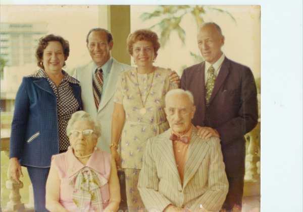 Front row: Esther and Jacob Fogler. Back row:  Lillian Fogler Harris, Edward Fogler, Edith Fogler Kl