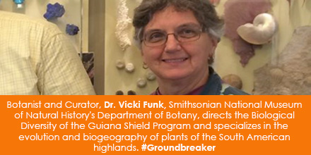 Botanist and Curator, Dr. Vicki Funk of the Smithsonian's National Museum of Natural History's Depar