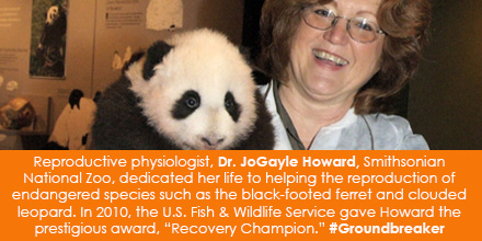 Reproductive physiologist, Dr. JoGayle Howard, Smithsonian National Zoo, dedicated her life to helpi
