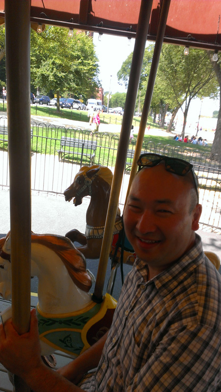 Mitch on the Smithsonian's Carousel.