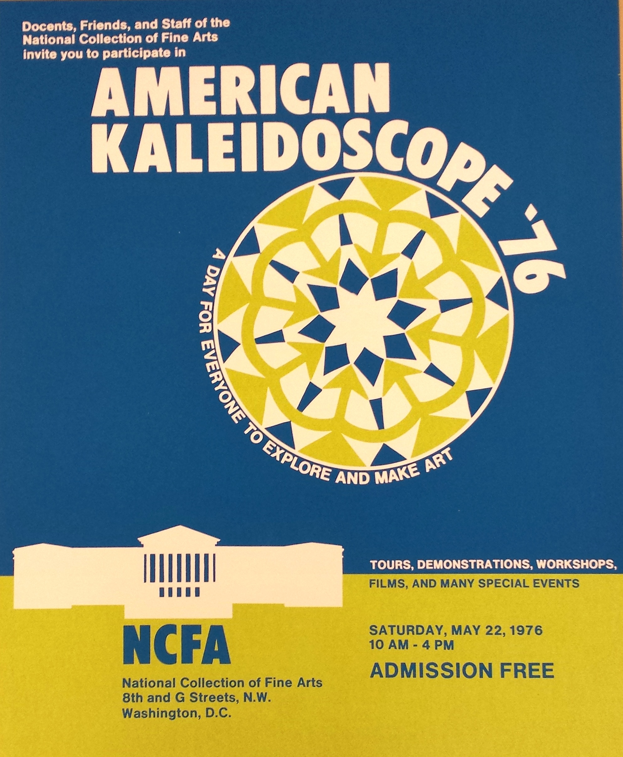 American Kaleidoscope: A Day for Everyone to Explore and Make Art, 1976.