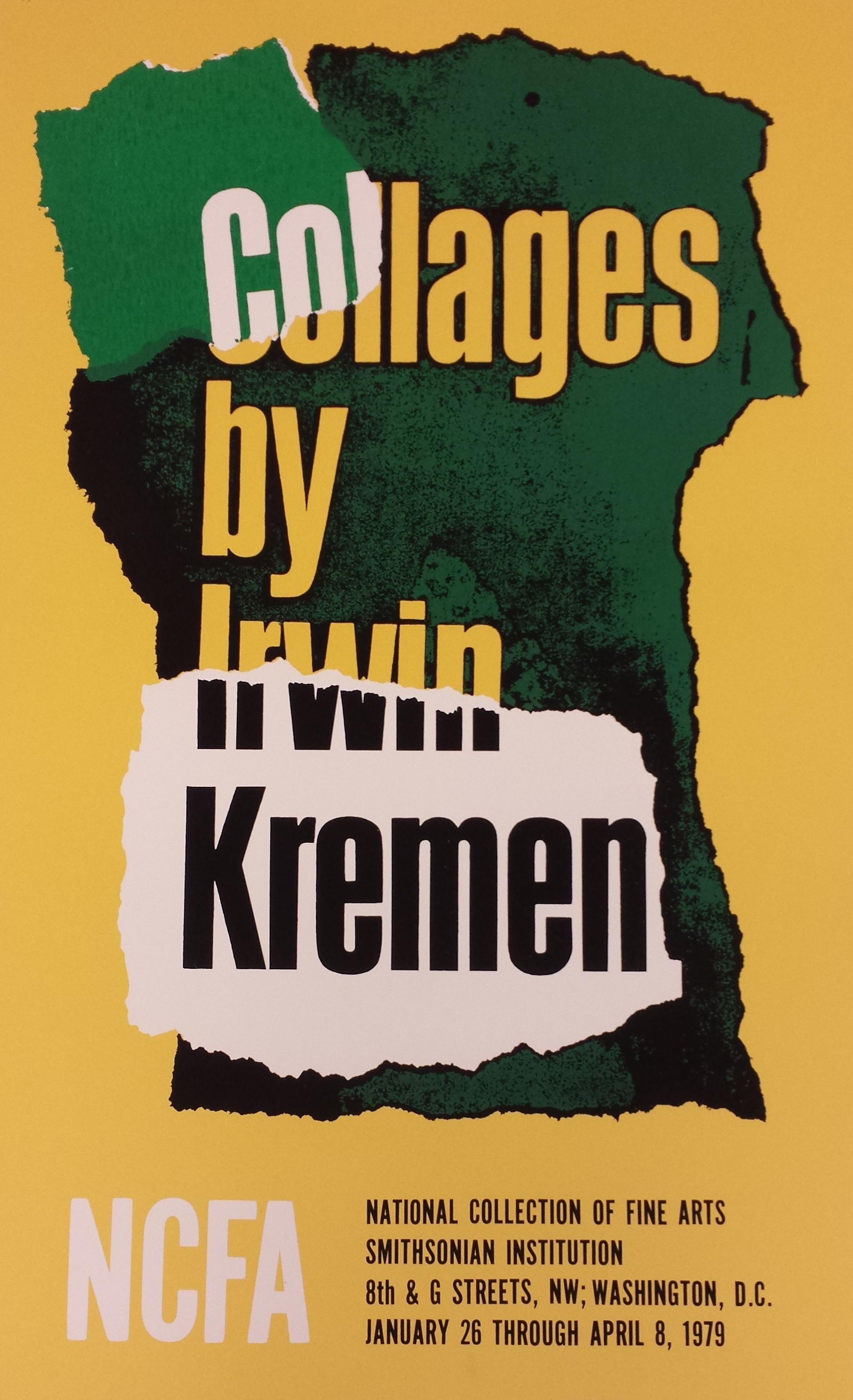 Poster design exhibition - Collages By Irwin Kremen 1979