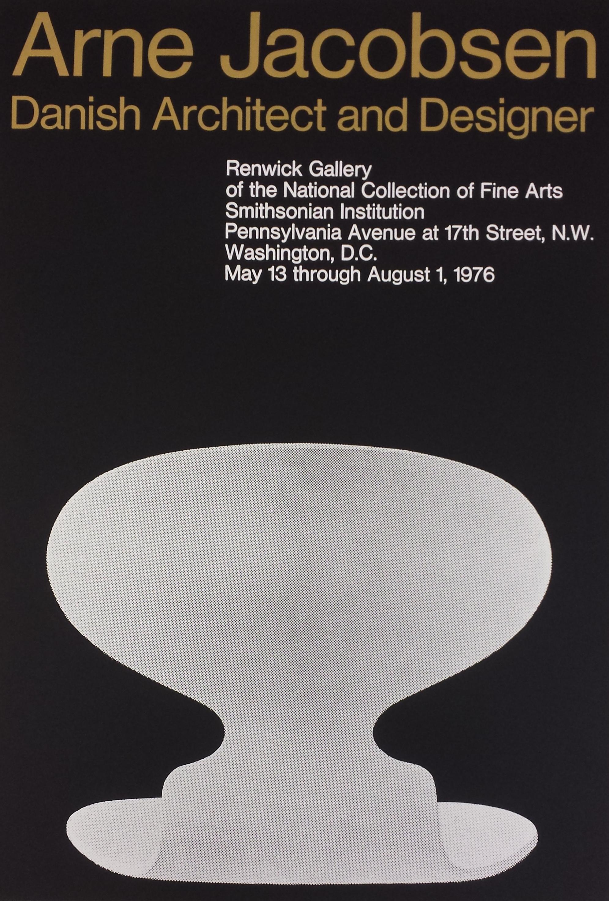 Arne Jacobsen, Danish Architect and Designer, 1976.