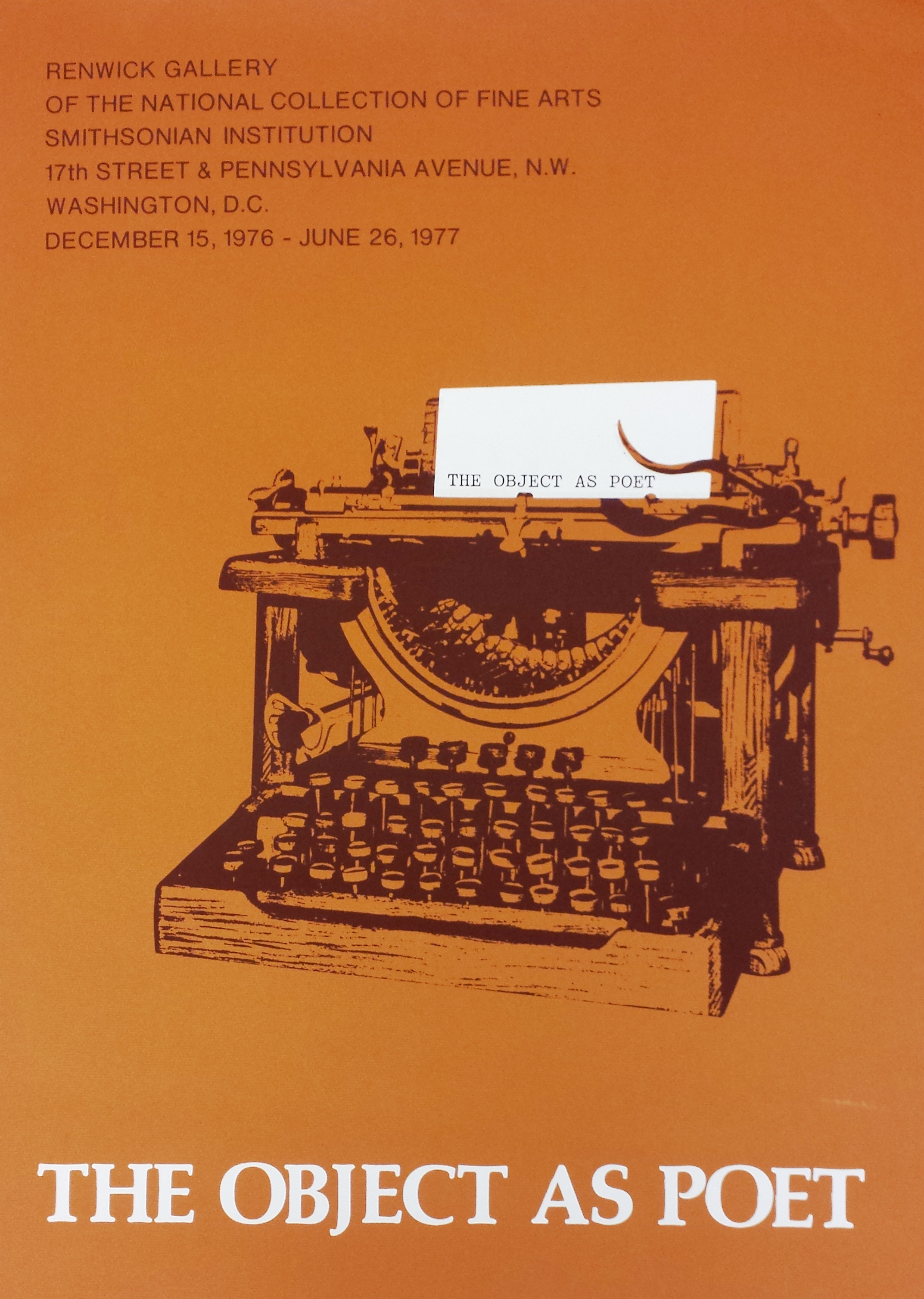 The Object as Poet, 1976-1977.