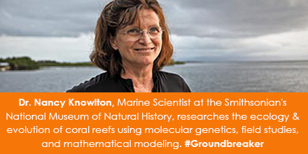 Dr. Nancy Knowlton, Marine Scientist at the Smithsonian's National Museum of Natural History researc