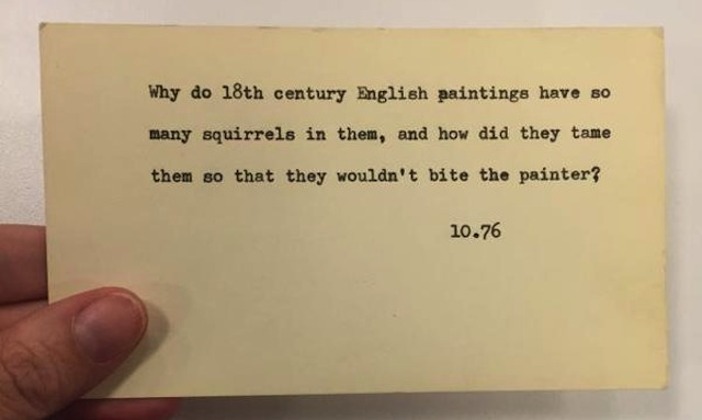Question submitted to NYPL