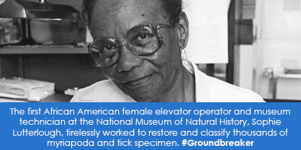 The first African American female elevator operator and museum technician at the National Museum of