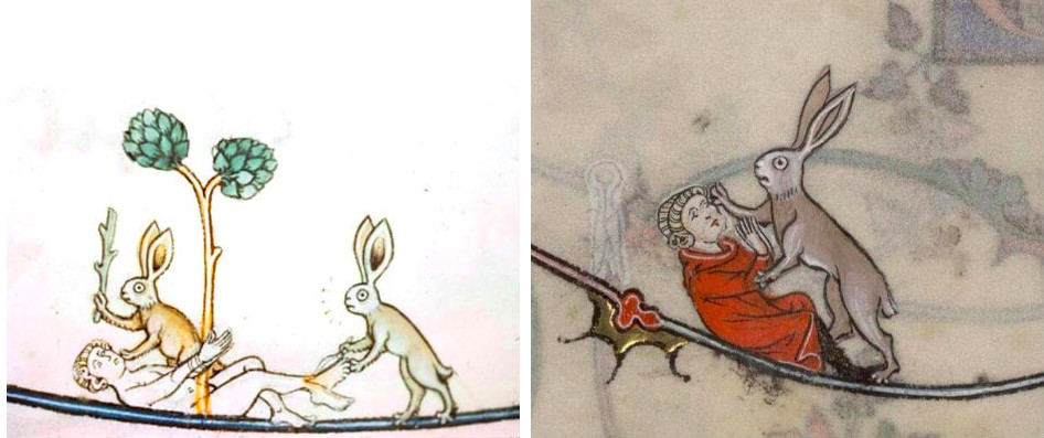 Violent Rabbits Found in Medieval Manuscripts