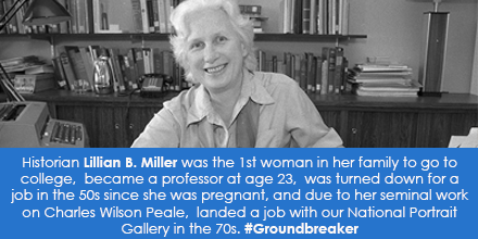 Historian Lillian B. Miller, National Portrait Gallery