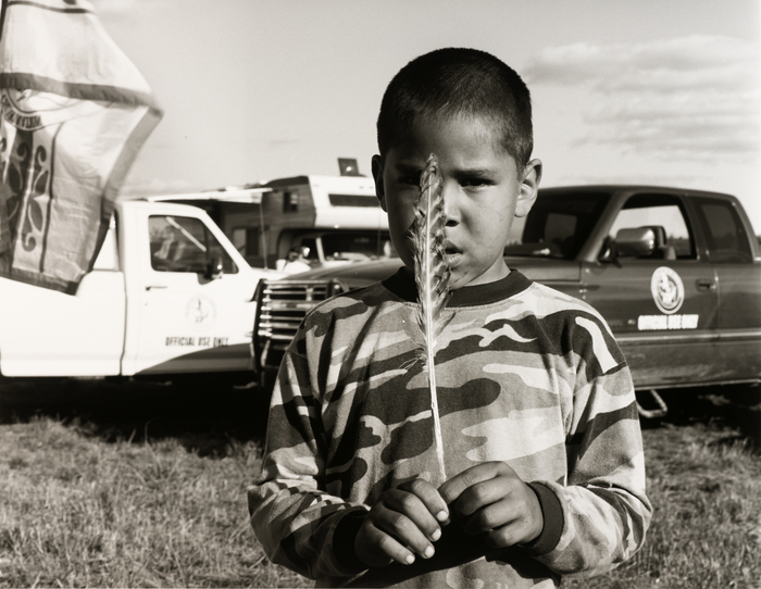 """James Hill,"" by Tom Jones, Ho Chunk (Winnebago), 2001, silver gelatin print, National Museum of the"