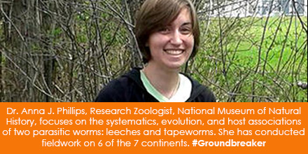 Dr. Anna J. Phillips, Research Zoologist, National Museum of Natural History, focuses on the systema
