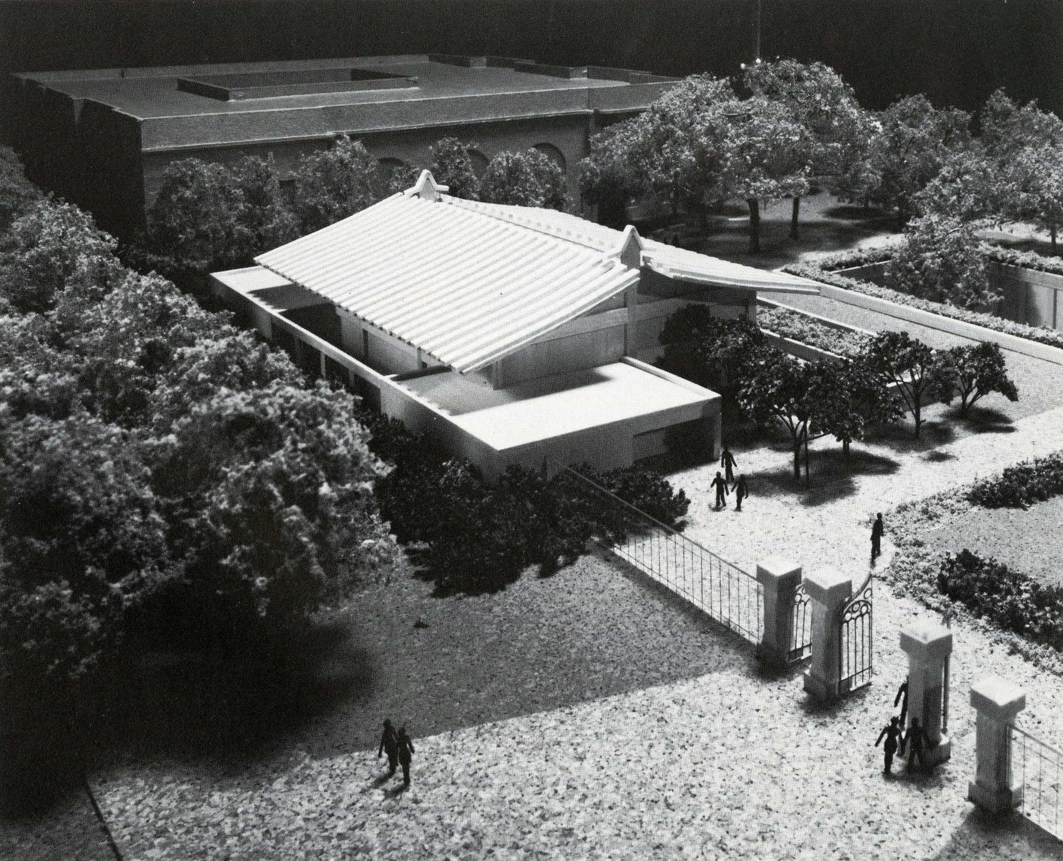 Model of Arthur M. Sackler Gallery of Art, by Dane A. Penland.