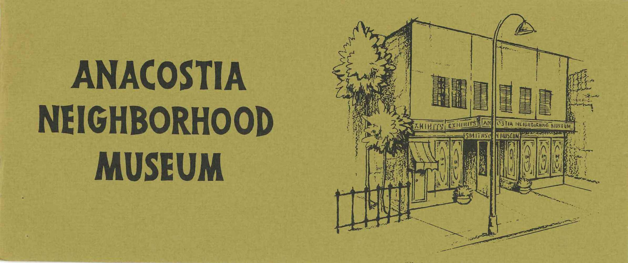 Brochure for Anacostia Neighborhood Museum, circa 1967.