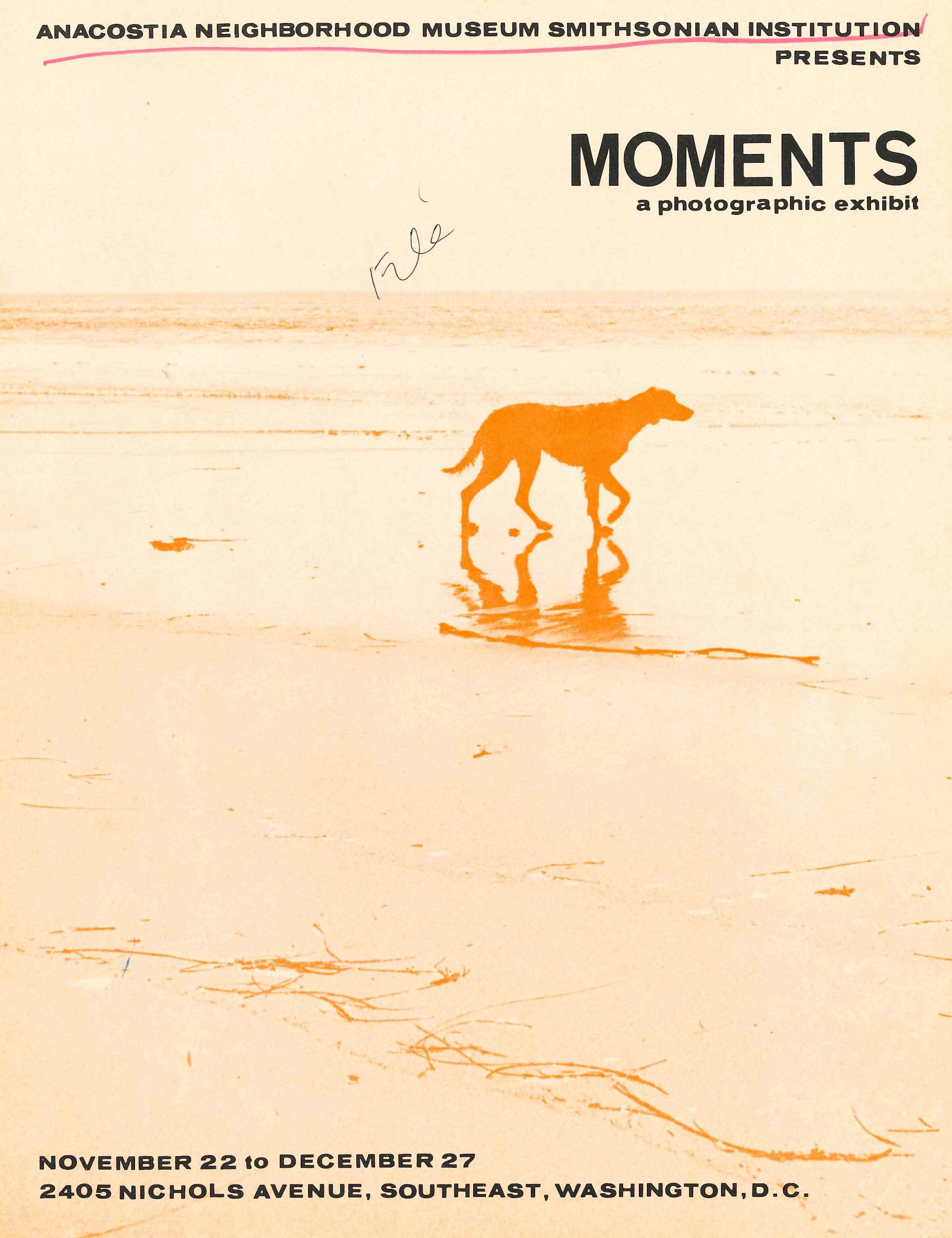 Exhibition brochure - Moments: A Photographic Exhibit, November 22 to December 27, 1970.