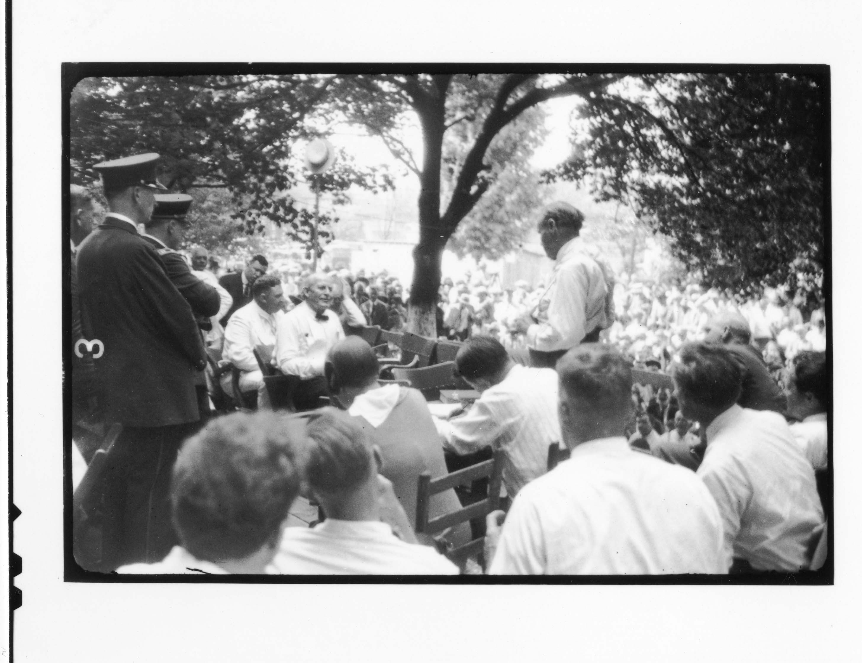 Tennessee v. John T. Scopes Trial: Outdoor proceedings on July 20, 1925, showing William Jennings Br