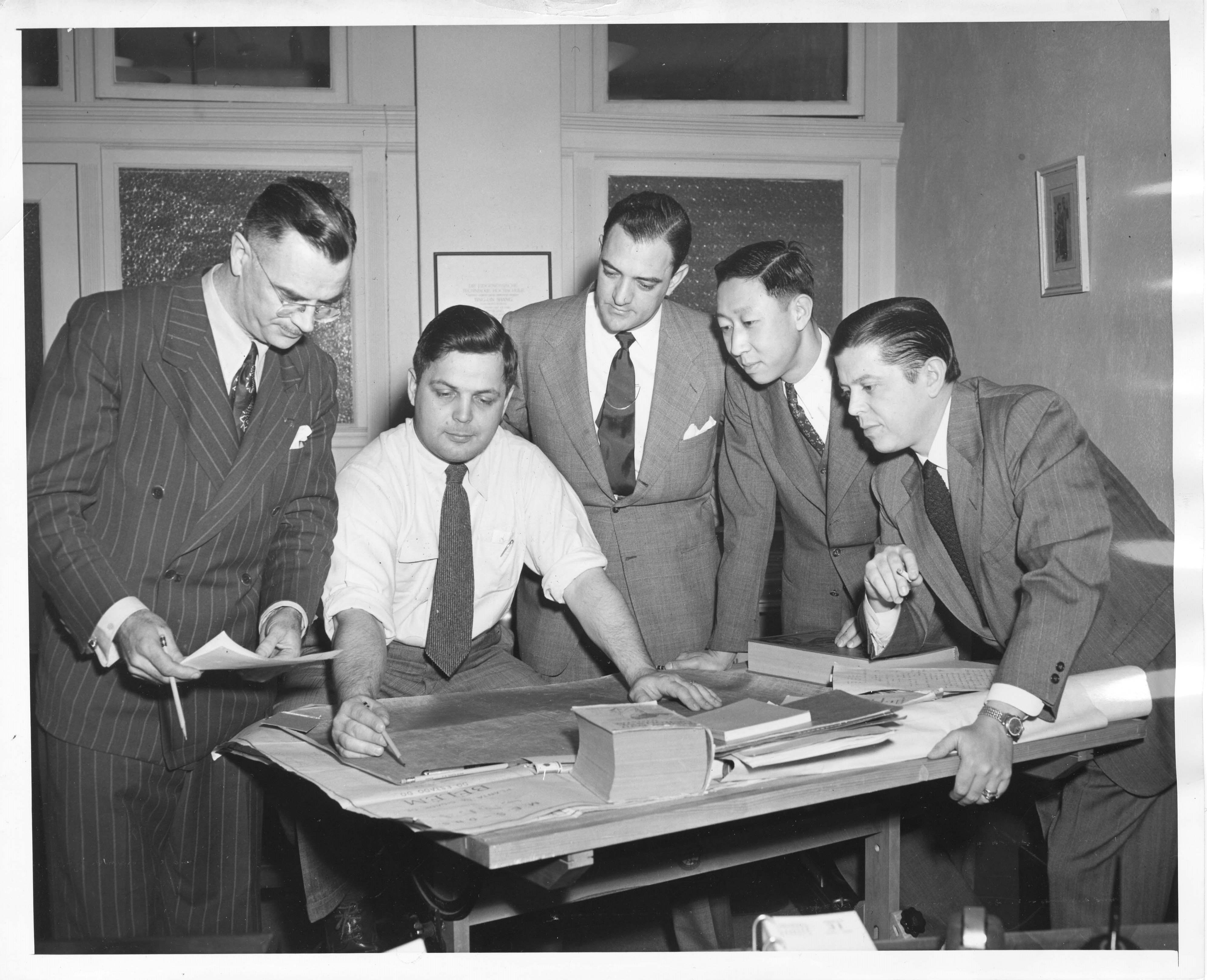 George Gunn, John Foster, George Jimenez, T. L. Shang, Victor de Mattos Cardoso