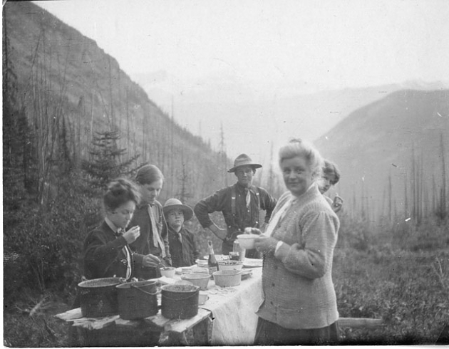 Charles Doolittle Walcott (1850-1927) family campsite in the Canadian Rockies, 1910, Image ID# SIA20