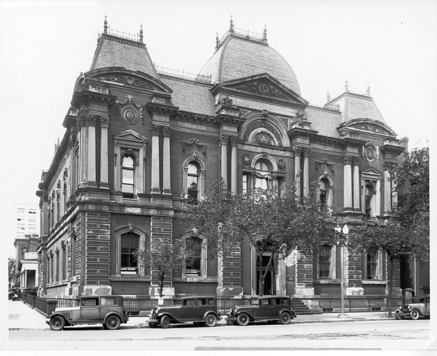 Exterior of the original Corcoran Gallery of Art (now Renwick Gallery) designed by architect James R